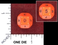 Dice : MINT49 UNKNOWN CHINESE D10 TRUCATED OCTAHEDRON