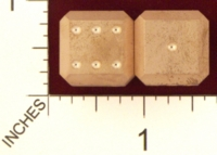 Dice : MINT20 ACE PRECISION D6 COPPER BEVELED 01