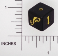 Dice : NON NUMBERED OPAQUE ROUNDED SOLID WIZARDS OF THE COAST DREAMBLADE 01