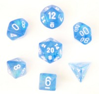 Dice : Chessex Sky Blue Borealis