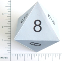 Dice : PAPER D08 NUMBERED