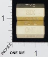 Dice : MINT18 ACE PRECISION D6 BRASS WORDED STICK 01