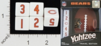Dice : NUMBERED OPAQUE ROUNDED SOLID USAOPOLY CHICAGO BEARS YAHTZEE 01