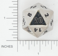 Dice : METAL STEEL D20 01 CRYSTAL CASTE 02