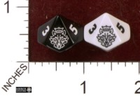 Dice : D10 OPAQUE ROUNDED SOLID MIERCE MINIATURES 01
