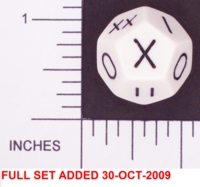 Dice : D12 OPAQUE ROUNDED SOLID WHITE 01