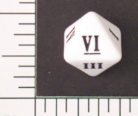 Dice : D8 OPAQUE ROUNDED SOLID FVLMINATA