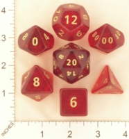 Dice : MINT19 CRYSTAL CASTE CLEAR ROUNDED SOLID RED 01