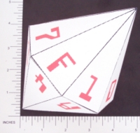 Dice : PAPER D16 MY DESIGN HEXADECIMAL 02