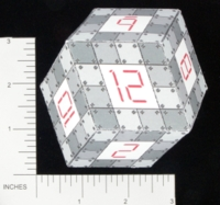 Dice : PAPER D12 MY DESIGN RHOMBIC DODECAHEDRON ARMORED