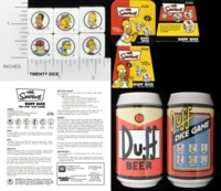 Dice : MINT13 FRIENDLY GAMES 01 THE SIMPSONS DUFF DICE