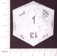 Dice : PAPER D20 3 ICOEARTH 06