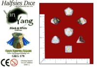Dice : MINT61 GATE KEEPER GAMES HALFSIES YIN YANG GOLD
