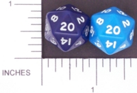 Dice : D20 OPAQUE ROUNDED SOLID BLUE 01