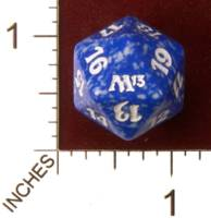 Dice : D20 OPAQUE ROUNDED SPECKLED MTG LIFE COUNTERS M13 03
