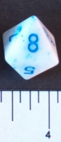 Dice : D8 OPAQUE ROUNDED SPECKLED WITH BLUE 2