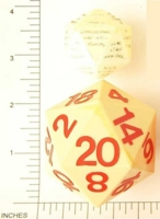 Dice : D20 OPAQUE SHARP SOLID HUGE