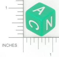 Dice : NON NUMBERED OPAQUE ROUNDED SOLID GAMESTATION LETTER