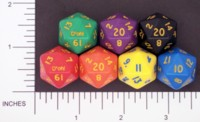 Dice : D20 OPAQUE ROUNDED SOLID CRYSTAL CASTE DOH 01