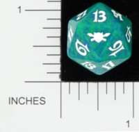 Dice : D20 OPAQUE ROUNDED SPECKLED MTG LIFE COUNTERS LEGIONS 04