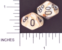 Dice : D10 OPAQUE ROUNDED SWIRL CHESSEX MENAGERIE 02