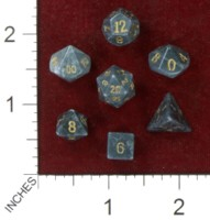 Dice : MINT41 CRYSTAL CASTE HOWLITE DYED BLACK