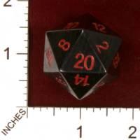 Dice : STONE D20 CRYSTAL CASTE HEMATITE 01