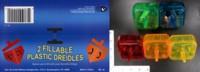 Dice : MINT37 ISRAEL GIFTWARE DESIGNS FILLABLE PLASTIC DREIDELS