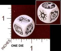Dice : MINT29 IRON CROWN ENTERPRISES CITIES OF DOOM ACTION DICE RING DIE 01