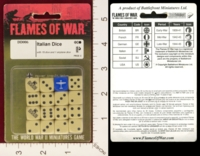 Dice : MINT20 FLAMES OF WAR DD006 ITALIAN 01