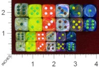 Dice : MINT40 CHESSEX 2014 D6 COLORS