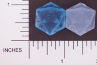 Dice : D20 TRANSLUCENT SHARP SOLID GAMESCIENCE 01