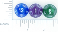 Dice : D12 OPAQUE ROUNDED IRIDESCENT CHESSEX VELVET 02