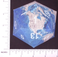 Dice : PAPER D20 3 ICOEARTH 02