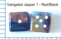 Dice : STONE D6 VARIGATED JASPER 1