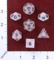 Dice : STONE MULTI CRYSTAL CASTE QUARTZ ROSE 02