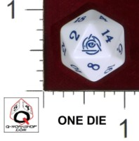 Dice : D20 OPAQUE ROUNDED SOLID Q WORKSHOP CUSTOM FOR DREAMSCARRED PRESS