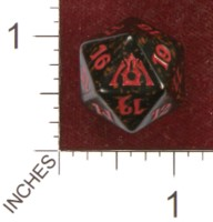 Dice : D20 OPAQUE ROUNDED SPECKLED MTG LIFE COUNTERS DRAGONS MAZE 01