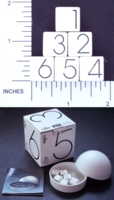 Dice : NUMBERED OPAQUE SHARP SOLID GEORG JENSEN 02