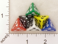 Dice : D4 OPAQUE ROUNDED SOLID KOPLOW 01