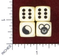 Dice : MINT47 CHESSEX FOR TAVERENTEES ROBERT JORDAN WHEEL OF TIME
