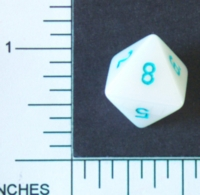 Dice : D8 OPAQUE ROUNDED IRIDESCENT CRYSTAL CASTE SATIN 1