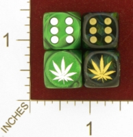 Dice : MINT26 CHESSEX CUSTOM FOR JSPASSNTHRU MARAJUANA 01