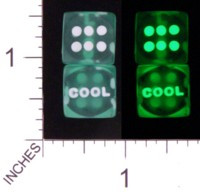 Dice : D6 OPAQUE TRANSLUCENT SOLID UNKNOWN COOL GLOW 01