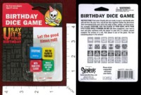 Dice : MINT40 ICUP SPENCERS BIRTHDAY DICE GAME