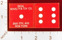 Dice : MINT25 IDEAL NOVELTY AND TOY CO 200 5TH AVE NEW YORK 01