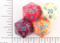 Dice : D20 OPAQUE ROUNDED SPECKLED WITH BLUE 2