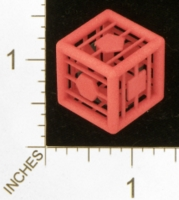 Dice : MINT27 SHAPEWAYS MCTRIVIA D6 GRID DIE 01 07