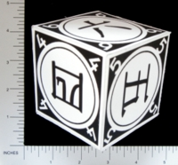 Dice : PAPER D06 Q-WORKSHOP DICE DESIGN CONTEST NOVEMBER 2007 ALVIN HELMS 02 KANJI ARABIC