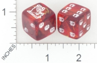 Dice : D6 OPAQUE ROUNDED SWIRL CHESSEX CUSTOM 36 FOR JSPASSNTHRU CHRISTMAS PRESENTS 01